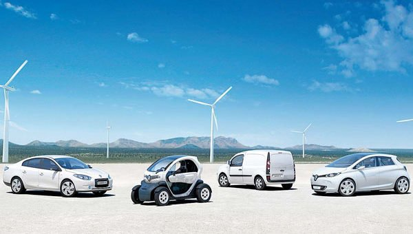 fleet of electric vehicles